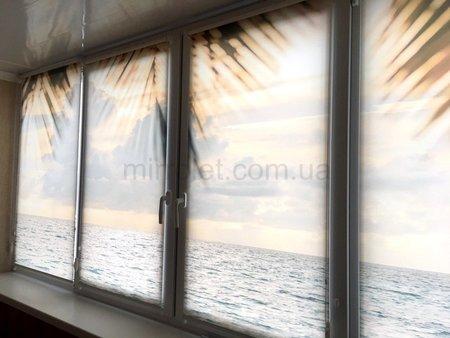 Фотопечать на шторе море