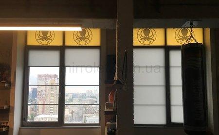 Комбинированные шторы,низ тканьWZ202-2082
