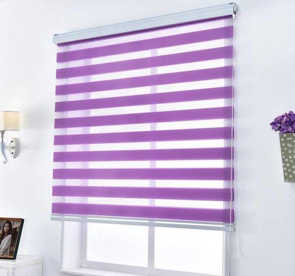 фиолетовые шторы день-ночь