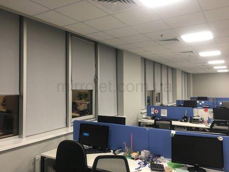 Ткань А 602, серые шторы в офис