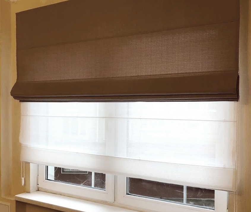 римские шторыы на кухню