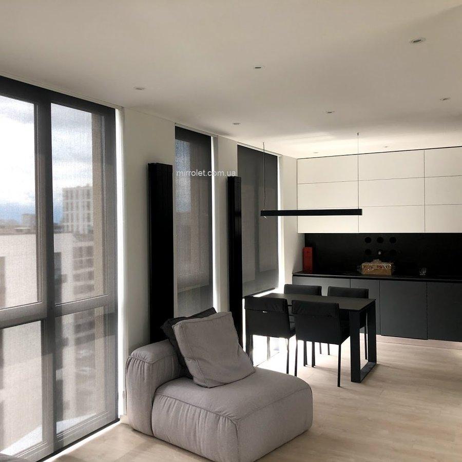 черные полупрозрачные шторы